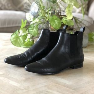 Banana Republic Black Leather Ankle Booties